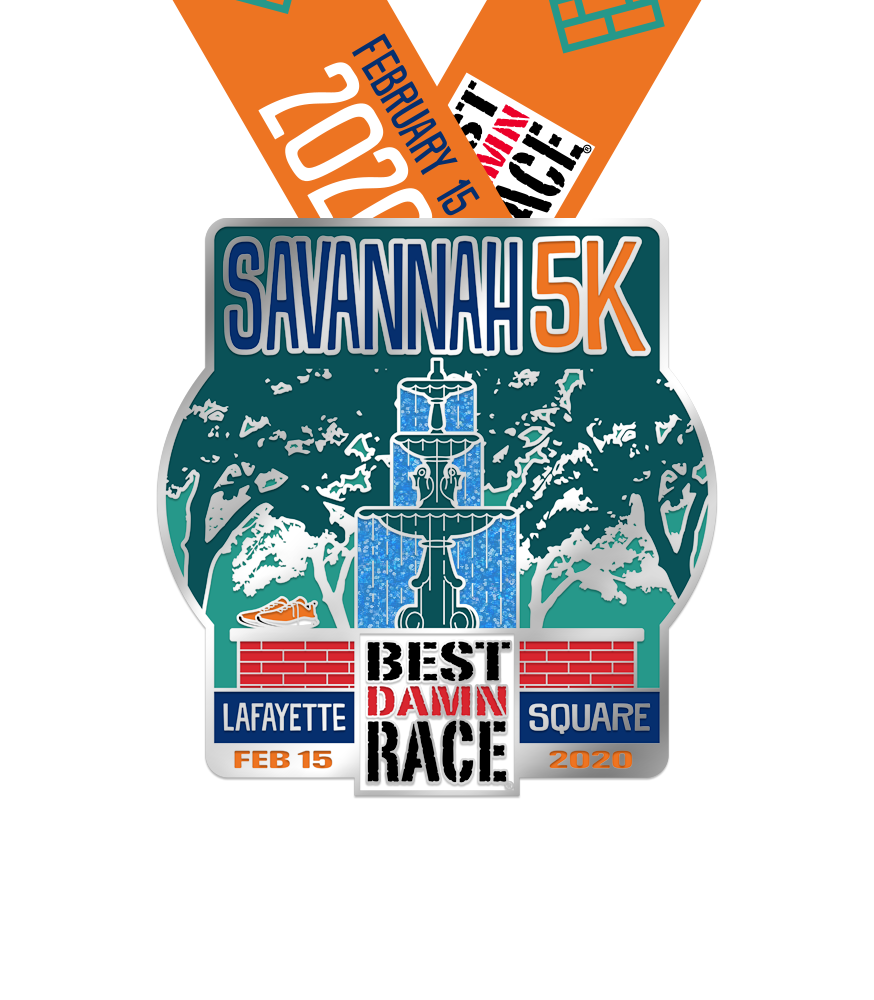 2020 Savannah 5K Medal