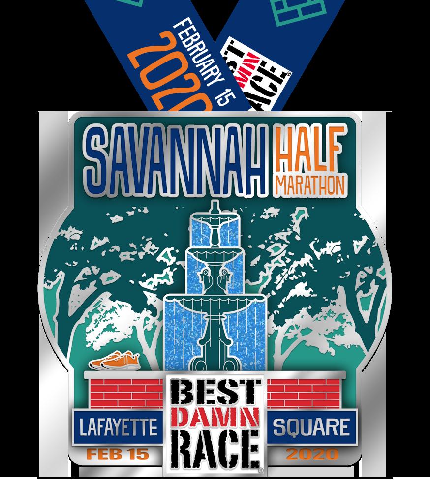 2020 Savannah Half Marathon Medal